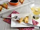 Baked Salmon Rangoon with Apple & Goat Cheese