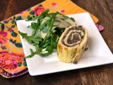 Mushroom and Brie Egg Roulade