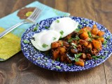 Pear Butternut Squash and Chorizo Hash