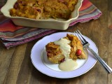 Pumpkin Cranberry Bread Pudding with Maple Creme Anglaise