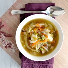 Shiitake Cabbage Soup