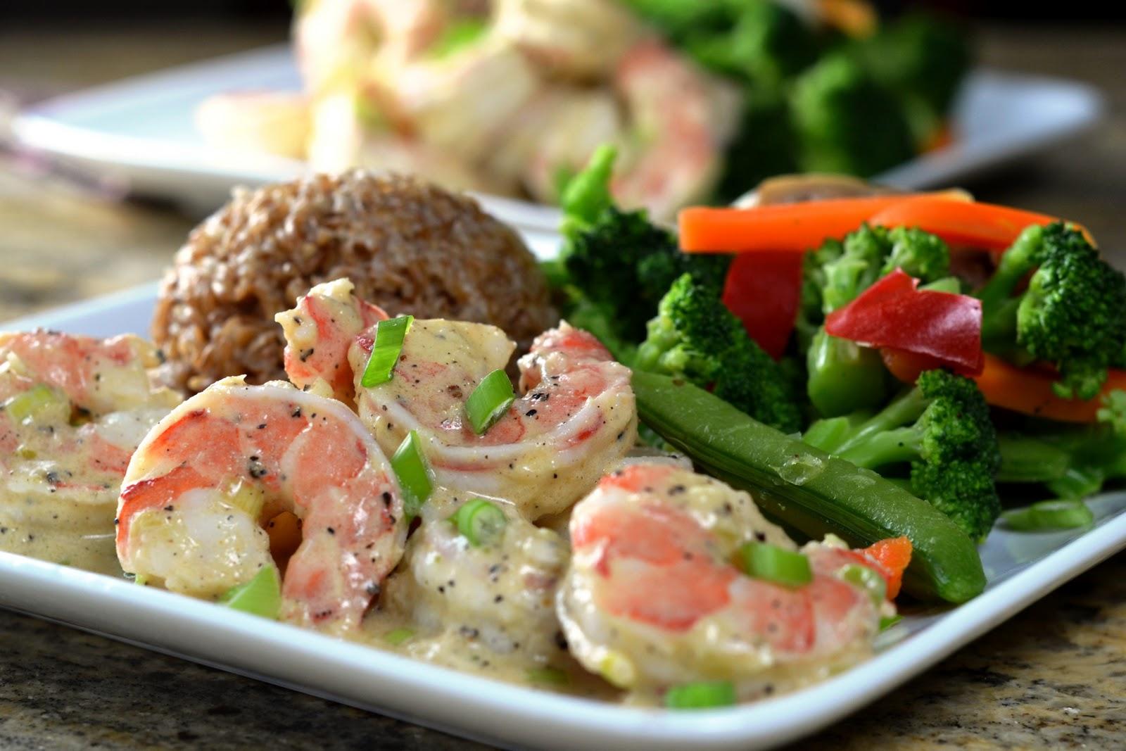 Cara's Cravings » Shrimp in Creamy Horseradish Sauce