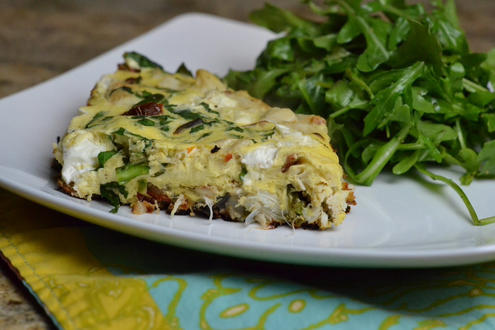 Cara's Cravings » Crab and Asparagus Frittata