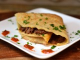 Spiced Lamb and Eggplant Matzoh Crepes