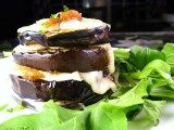 Eggplant Stacks with Fig &amp; Melted Brie