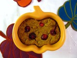 Baked Pumpkin Cranberry Oatmeal Pudding (Sugar-, Gluten-, and Dairy-Free)