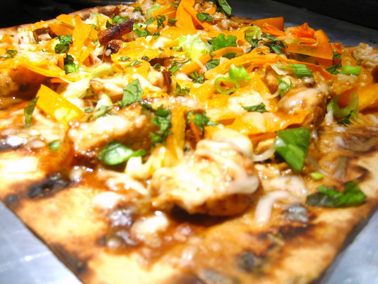 Thai Flatbread Pizza Recipe — Dishmaps