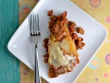Vegan Potato Chorizo Lasagna Make, Hearty Vegan Meals for Monster Appetites, Joni Mari Newman