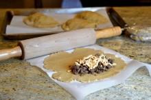 gluten free pizza dough, gluten free calzone, dairy free calzone