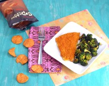 popchips, gluten free sweet potato chips, potato chip crusted fish, sweet potato crust
