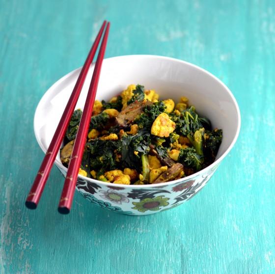tofu scramble, scrambled tofu, tofu express
