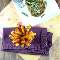 Ginger Peanut Coconut Squash Fries