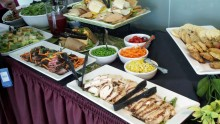 Somewhere in the mix there was lunch too. A healthy spread of wraps and salads, and paleo cookies for a sweet treat!