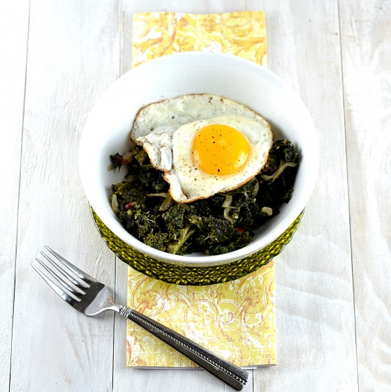 braised kale, kale breakfast