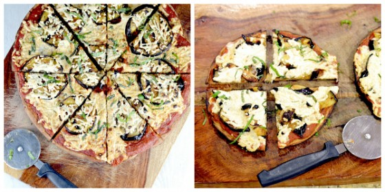 grilled eggplant pizza, chickpea flour pizza, chickpea crust, socca, gluten free pizza dough
