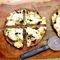 socca, chickpea flour pizza, eggplant pizza