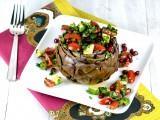 sfeeha, stuffed artichokes,