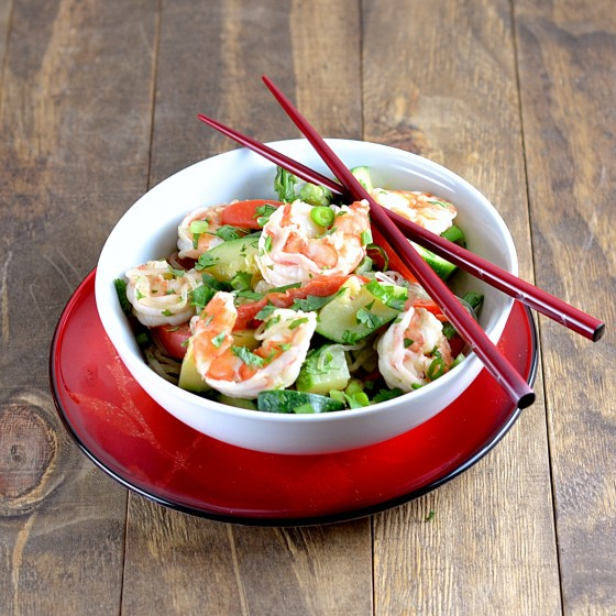 ... » Recipe for Peanut Sesame Kelp Noodles with Shrimp and Vegetables
