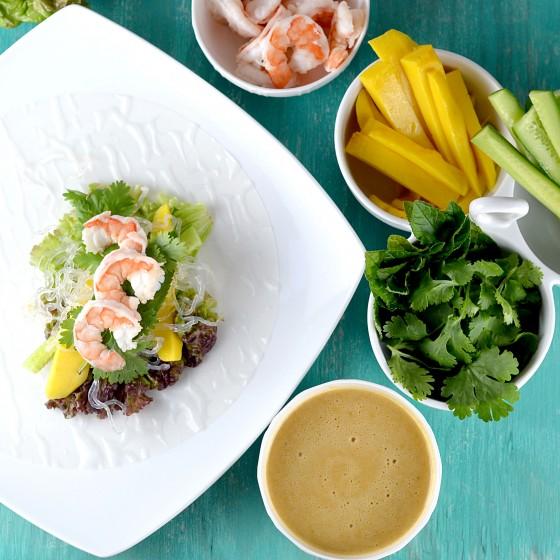summer rolls, fresh rolls, spring rolls, kelp noodles, vietnamese summer rolls, shrimp rolls, mango shrimp summer rolls, coconut peanut sauce, coconut curry sauce