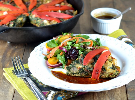 vegetarian times white bean frittata, piri piri, vegetarian times white bean tortilla, spanish tortilla recipe, low carb tortilla, healthy tortilla recipe, healthy frittata recipe, dairy free frittata, crustless quich recipe, pepper sauce recipe, swiss chard frittata