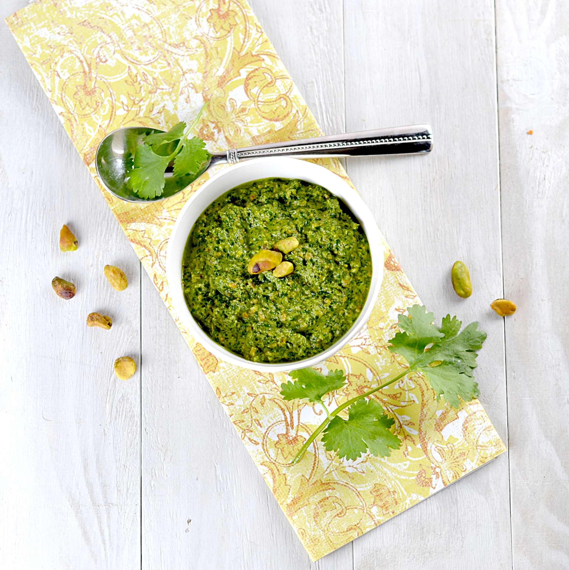 ... for Grilled Zucchini and Artichokes with Cilantro-Pistachio Pesto