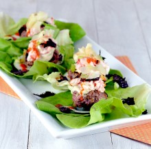 Lobster Maki Burger Lettuce Wraps