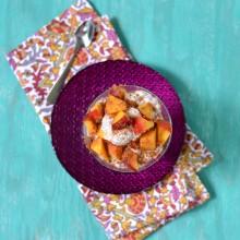 Oatmeal-Chia Peach Parfait 1