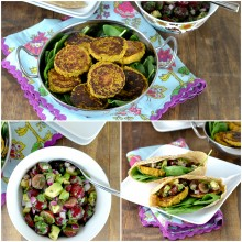 Roasted Butternut Squash and Chickpea Patties with Avocado-Grape Salsa