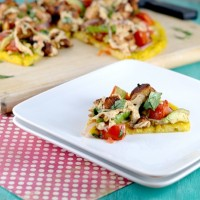 Avocado Chicken Polenta Pizza 2 - Cara's Cravings