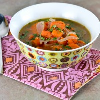 Carrot Ginger Soup with Tahini @Cara's Cravings-2