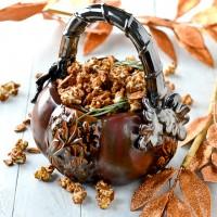 Rosemary Caramel Almond Popcorn @Cara's Cravings-5