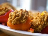 Artichoke Falafel Stuffed Peppers @Cara's Cravings