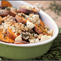 Herbed Sweet Potatoes with Feta by PreventionRD @Cara&#039;s Cravings-2