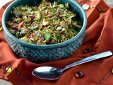 Maple Mustard Brussels Sprouts with Pepitas and Pomegranate Seeds @Cara's Cravings-3