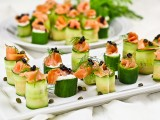 Smoked Salmon Cucumber Rolls-1