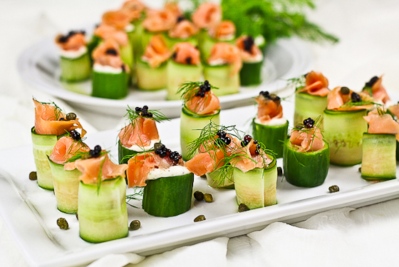 smoked salmon appetizer, smoked salmon cream cheese appetizer, smoked salmon cucumber appetizer, cucumber cream cheese rolls, healthy party appetizers, healthy foodie blog