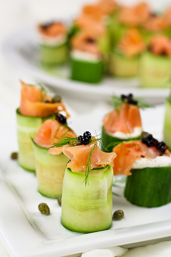 Smoked Salmon Cucumber Rolls {Guest Post by The Healthy Foodie}