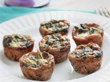 Spinach & Artichoke Mini Quiches- Queen of Quinoa for Cara's Cravings