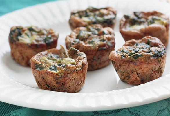 Spinach Artichoke Mini Quiches - Queen of Quinoa for Cara's Cravings