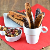 Gluten Free Chocolate Dipped Cranberry Biscotti @carascravings-2