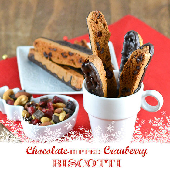 Gluten Free Chocolate Dipped Cranberry Biscotti @carascravings