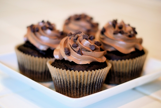 Perfect Gluten Free Chocolate Cupcakes by Sarah Bakes @Cara's Cravings