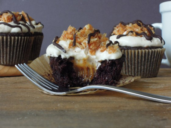 Samoa Cupcakes by Fork and Beans