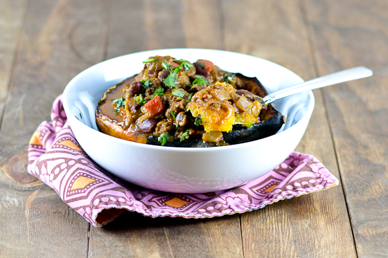 Indian Spiced Chili in Acorn Squash Bowls @Cara's Cravings-5