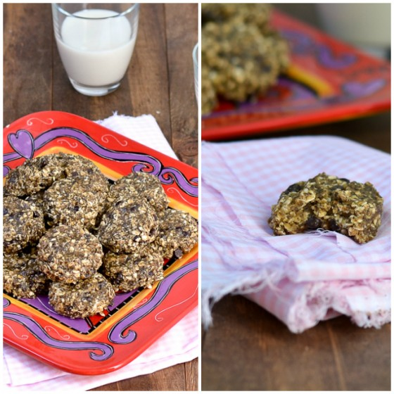 Peanut Butter Choco Chip Chia Cookies @carascravings