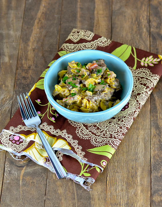 Philly Cheesesteak Pasta @carascravings-3