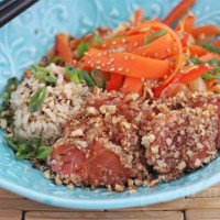 Walnut Crusted Seared Salmon Photo1