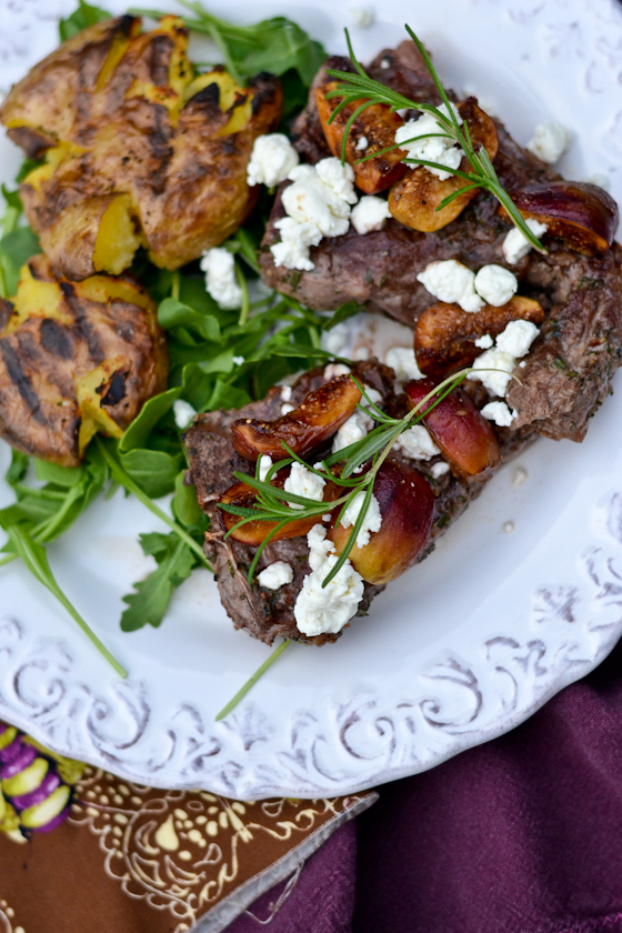 Grilled Lamb Loin Chops with Figs and Goat Cheese @Cara's Cravings-2