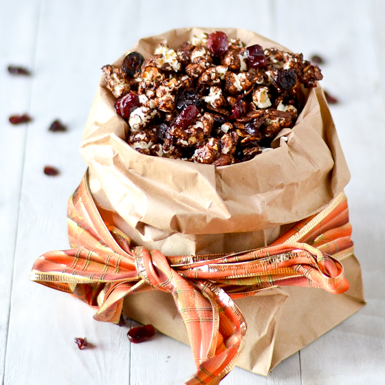 Coco Cranberry Almond Caramel Corn @Cara's Cravings-5