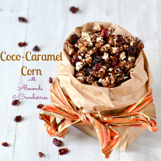 Coco Cranberry Almond Caramel Corn @Cara's Cravings